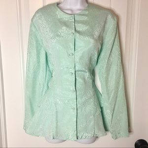 Vintage | Mint Ruffle Top